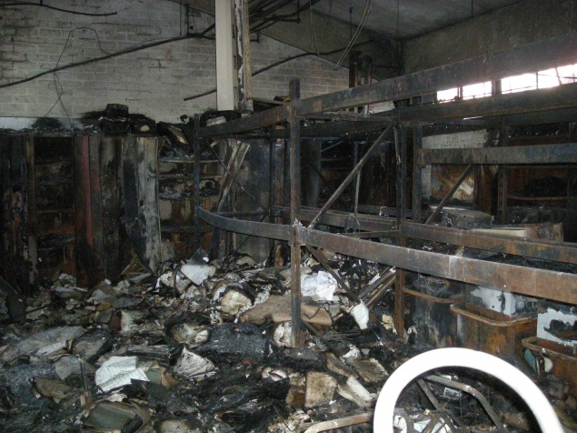 Fire in workshop 1