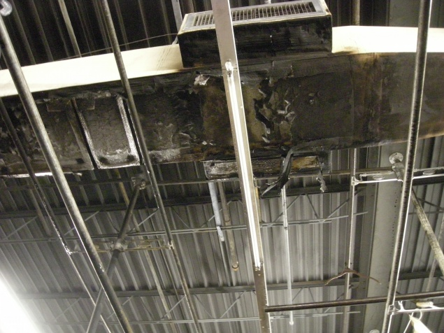 Scorched ductwork